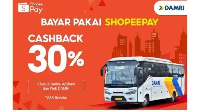 Bayar Tiket Bus DAMRI Pakai ShopeePay, Bisa Dapat Cashback 30 Persen